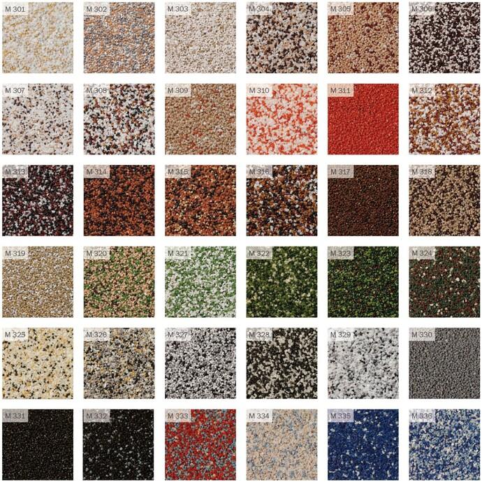 Mosaikputze Farbfächer